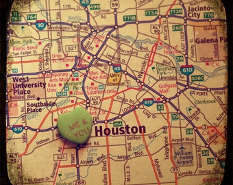 me & you houston custom candy heart map art 5x5 ttv photo print - free shipping