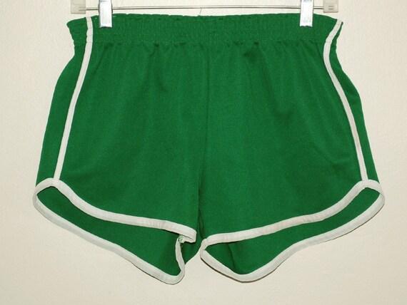 Vintage 70s Green K-mart Jogging Running Gym SHORTS Small