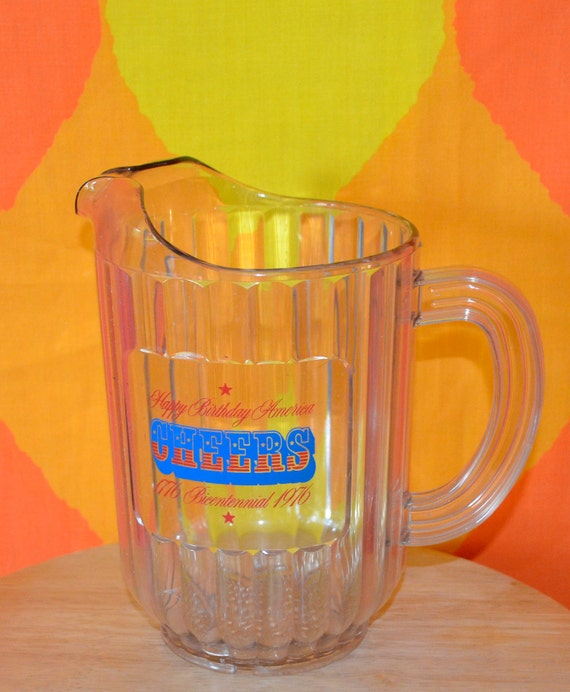 San Francisco Ts >> vintage beer pitcher 1976 CHEERS bicentennial july 4th happy