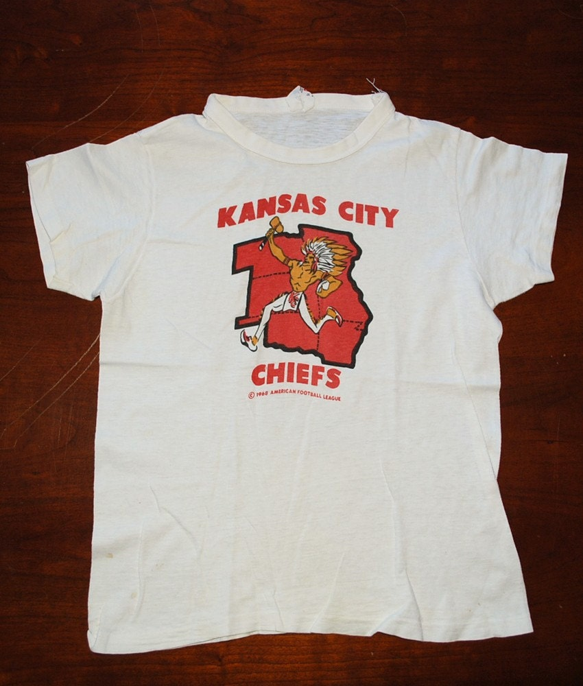 T shirt vintage 1968 kansas city chiefs nfl tee shirt xs for Kansas city chiefs tee shirts