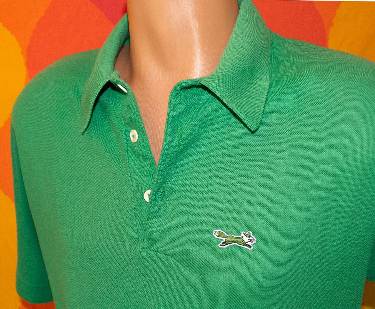 vintage 70s golf shirt the fox polo tennis jc penney large