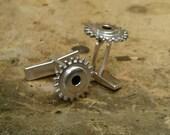 sterling gear cuff links