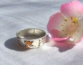Three stitch ring with citrine