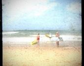 Surf photo, beach decor, vintage inspired, surf decor, for him, for teens, ttv, surfboard, retro, surf wall art, beach photo - Three Surfers