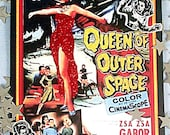 QUEEN OF OUTER SPACE NOTECARD