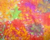 Dyed fabric---Orion's Zinnias