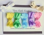 Set of 7 Tiny Infant Bows Perfect Gift