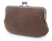 SALE leather clutch bag, the serpentine