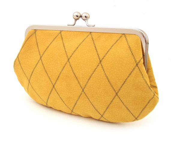 Suede leather clutch bag, the Argyle