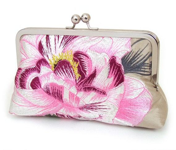 Candy bloom clutch : Silk purse / wedding / bridal / party
