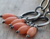 Odissea - Coral and Sterling Silver Earrings