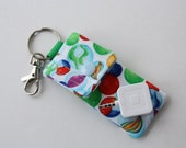 Keyring pouch Square USB case Rainbow Marbles
