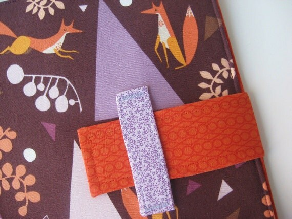 iPad cover converts to stand fox woodland fabric cover