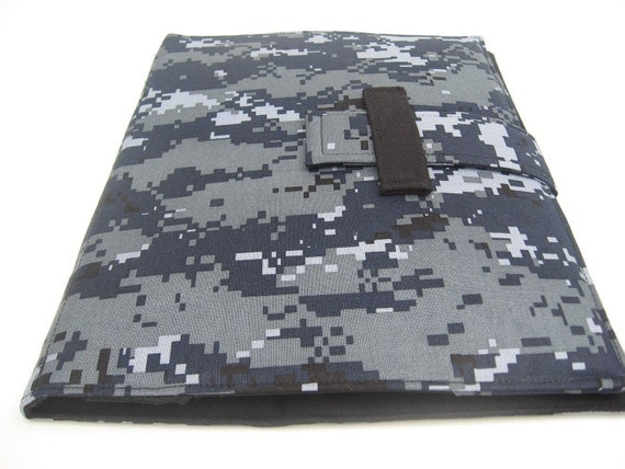 Masculine iPad case and stand cover in Urban Camo fabric