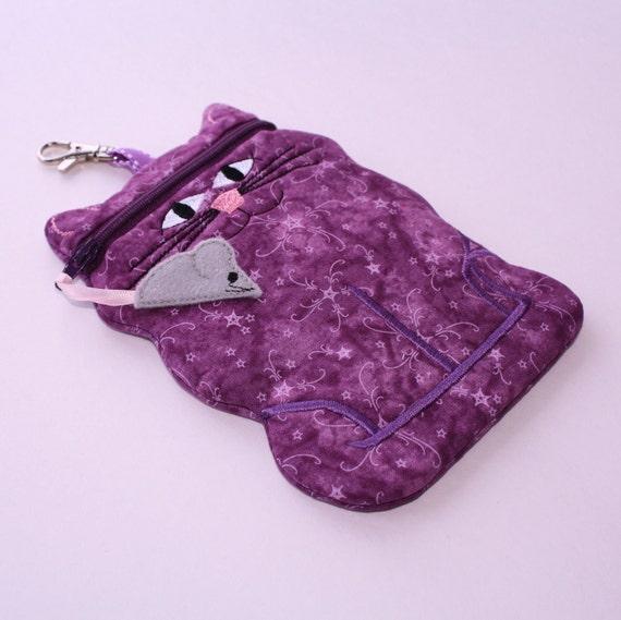 Purple Cat shaped iphone6 case camera case