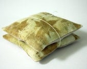 eco printed maple sachets