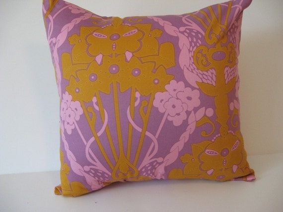 16 Inch Square - Pillow Cover - Cushion Cover - Pillowcases Purple - Pink - Mustard Orange