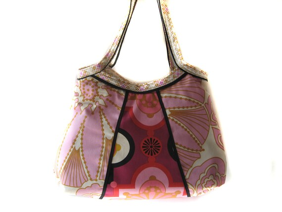 Shoulder Handbag/Tote/Purse - New Design- Anna Maria Horner Drawing Room Rose Gold
