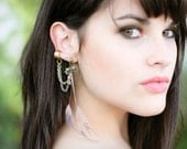 Bow and Chain Ear Cuff