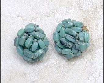 SALE   Hong Kong marked Turquoise Vintage Earrings