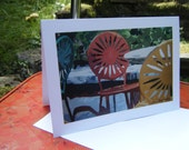Terrace Chairs Art Print Greeting Card