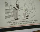 Vintage magazine comic Father's Day Card
