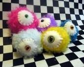 Set of Five Flake Nuggets Evil Eyes Stuffed Monster Balls Toys