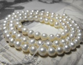 One New 15 Inch Strand Cultured White Potato Pearls 4 to 5mm Size Great for Wedding Jewelry Free Domestic Shipping