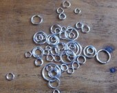 One Ounce Package Silver Plated Jump Ring Assortment Great Jewelry Supplies