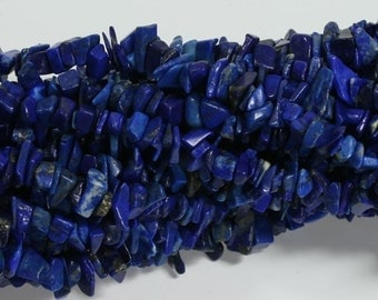 One New Lapis Lazuli 36 Inch Strand Chip Style Gemstone Beads Great jewelry Making Supplies