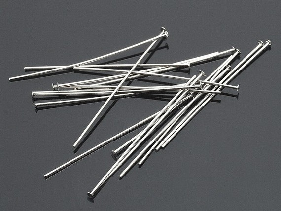 50 Pack New 1.5 Inch Silver Plated Head Pins Great jewelry Supplies FREE DOMESTIC SHIPPING