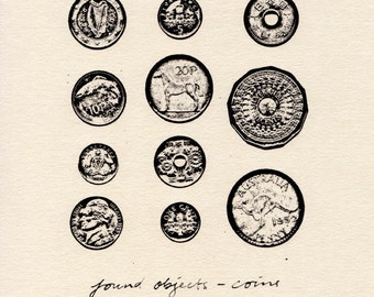 Found Objects - Coins (Limited Edition Print)