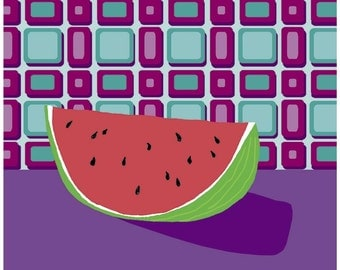 Fruit with Wallpaper (watermelon) iron-on transfer
