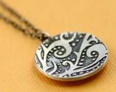 Overstock SALE- WAS: 48.00 NOW 30.00 - Circle of Enchanted Vines Oxidized Silver Necklace