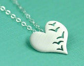 A Flock of Love Birds Necklace in Silver