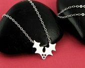 Silver Jolly Holly Necklace