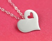 I Carry Your Heart Necklace in Silver