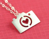 Camera Love Silhouette Necklace in Silver