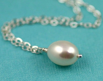 Luxe Freshwater Rice Pearl Accent Necklace