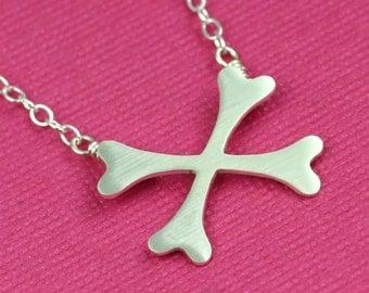Creepy Crossbones Necklace in Silver