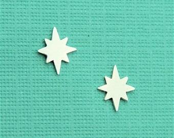 Tiny Nautical North Star Stud Earrings