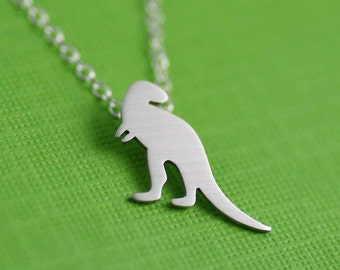 T-Rex Necklace. Tyrannosaurus Rex Necklace. Archeologist Gift. Dinosaur Necklace. Land Before Time. Jurassic Park. Sterling Silver Necklace.