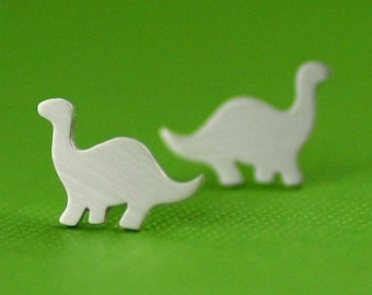 Tiny Darling Dinosaur Studs in Silver