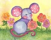 Muschka Mouse 8 x 8 Print