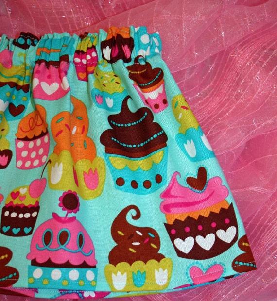 Custom Boutique Cupcake Skirt 6m - 8
