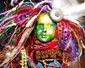 Storykeeper-Spirit Art Doll-Mixed Media Assemblage