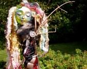 OOAK Goddess Art Doll Mixed Media Assemblage: The Maiden