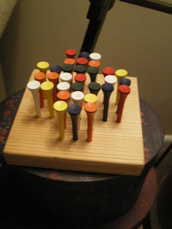 Handmade Jump the Peg Game - Great Stocking Stuffer