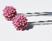 Flower Hairpins - Lovely Lilac Bobby Pins by ShelleAnne on Etsy