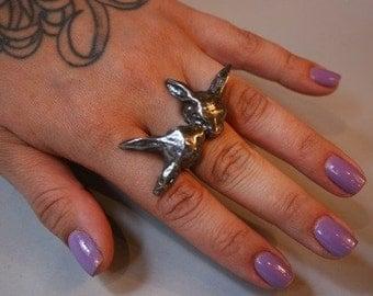 Bunny Love Ring in Silver